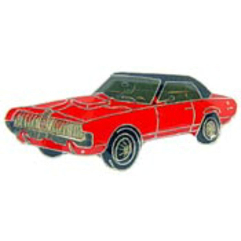 EagleEmblems P65033 Pin-Car,Cougar,'7,Red (1'')