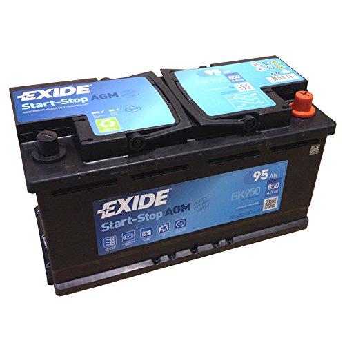 EXIDE AGM Start-Stopp-Batterie EK 950 EN (A): 850 12V 95AH neuestes Model 2014/15