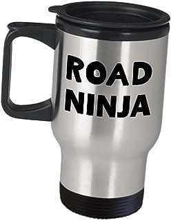 Funny Cute Gag Gifts for Crossing Guard - Road Ninja Appreciation Gift Travel Mug Coffee Tumbler for Lady Man Pedestrian Lollipop Crosswalk Attendant Street Guard Patrol School Officer