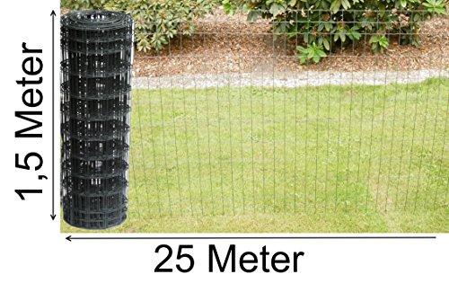 Gelaste gaas hek als tuinhek wildhek gaas hek in grijs antraciet 1,0 m - 1,5 m hoog hek hek draadgaas gaas gaas hek gaas 1,5 m hoch 25 m lang
