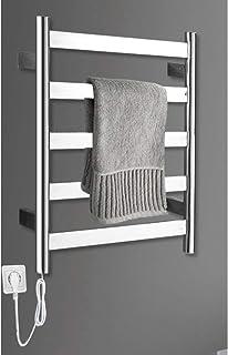 Toallero HLF- 60x50cm tendedero de Acero Inoxidable 51w Estante eléctrico de calefacción, Cocina del hogar Estante de Almacenamiento radiador de baño