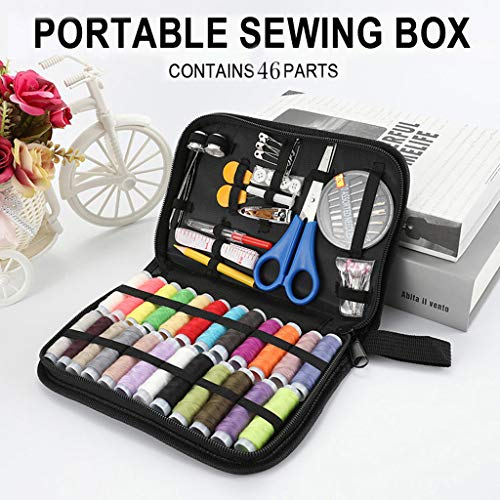 Sewing Kit, Sew Kit for Home, Traveler, Adults, Emergency- Premium Sewing Kits, Zipper Portable & Mini- Filled with Sewing Needles, Scissors, Thread, Tape Measure Set etc- Gift
