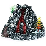 Simulation spray sound and light dinosaur volcano model scene decoration, Simulation Volcano Eruption Model for Kids Steam Volcano Models Science Explo Educational Toy Children's Birthday Gifts