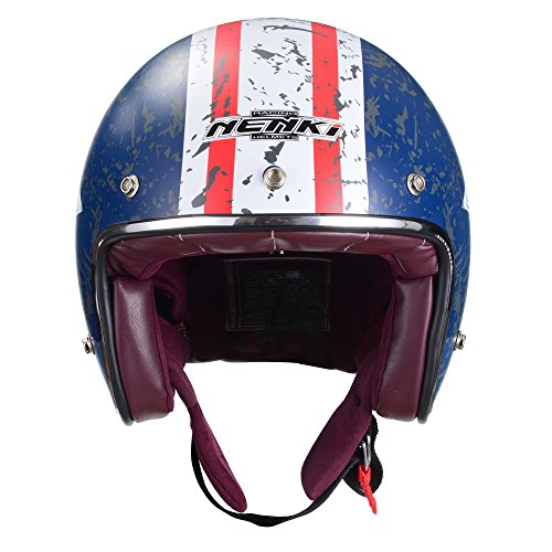 NENKI 3/4 Vintage Retro Motorcycle Helmet NK-628 for Moped Scooter with Helmet Mask DOT Approved(Size L)