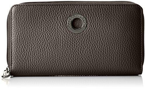 Mandarina Duck Damen Mellow Leather Portafoglio Umhängetaschen, Schwarz (Nero), 10x21x28.5 cm
