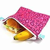 Crazy Safety - Bolsa reutilizable para sándwiches - Paquete de 3 bolsas de...