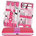 18-Piece Teamkio Pedicure Nail Clippers Set with Leather Case