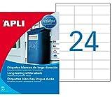 agipa 1226 - Etiquetas impermeables (64,6 x 33,8 mm), color blanco