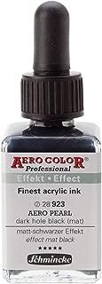 Schmincke : Aero Color Finest Acrylic Ink : 28ml : Aero Pearl Dark Hole Black