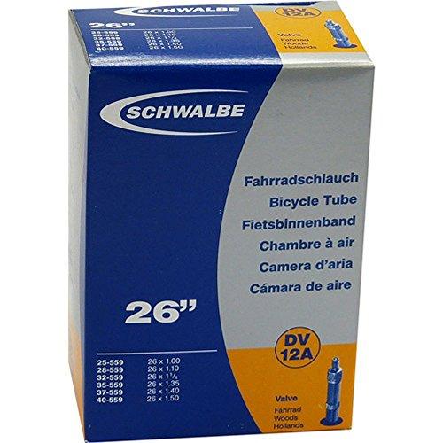Schwalbe - Cámara de Aire MTB (número 12 A, 559 mm) Negro Talla:26 x 1.0 Zoll