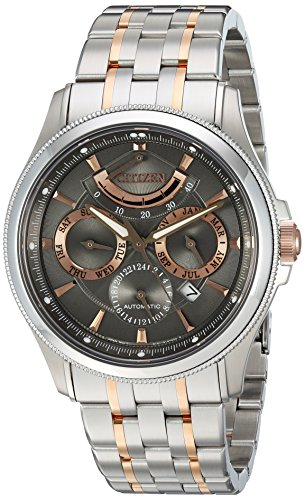 Citizen Men's The Signature Collection Japanese-Automatic Watch with Stainless-Steel Strap, Two Tone, 21.8 (Model: NB5006-59H)