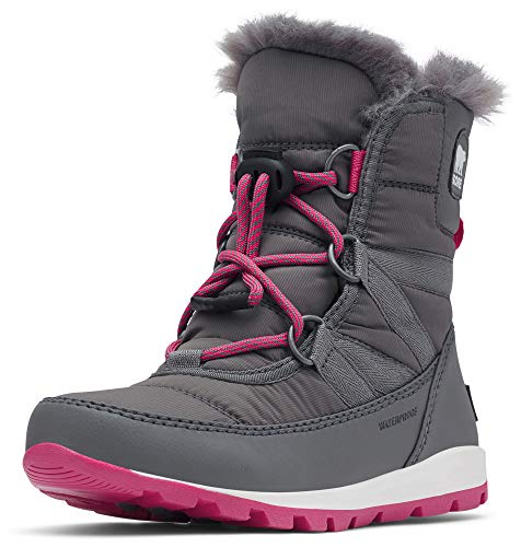 Sorel Kinder Youth Whitney Short Lace Kurzer Schnürstiefel, grau (quarry)/pink (ultra pink), Größe: 35