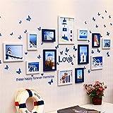 KINGXX-03 Marcos de Fotos Multi Picture Photo Frame Frames Set de Pared 13 Piezas J
