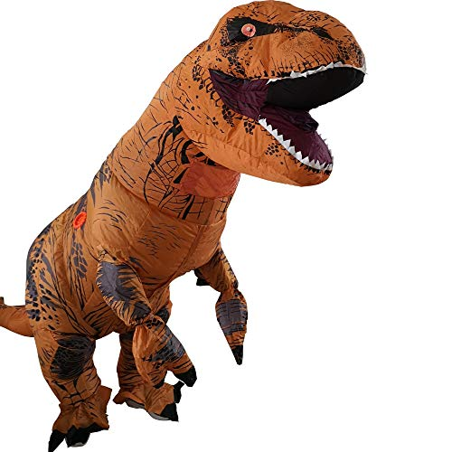T-Rex Inflatable Dinosaur Mascot Party Costume Fancy Dress Cosplay Outfit Adult …