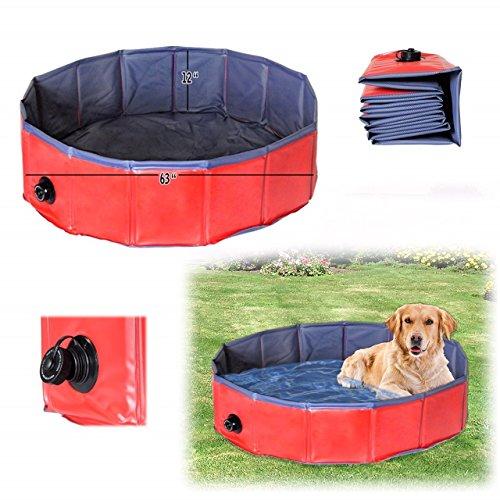 Foldable Dog Pool,Dog Bath Tub, Splash Swim Pool,Dog Pool, Large 62' Round