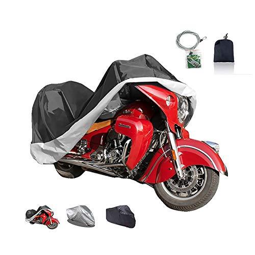 Fundas para Motos Cubierta de la motocicleta compatible con cubierta de la motocicleta VICTORIA Visión Calle de primera calidad, 3 colores 210D Oxford con tapa de la cerradura exterior motocicleta, aj