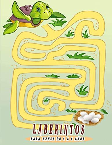 Laberintos para niños de 4 a 8 años: Libro de actividades de laberinto para niños. Ideal para desarrollar divertidas habilidades de aprendizaje para niños