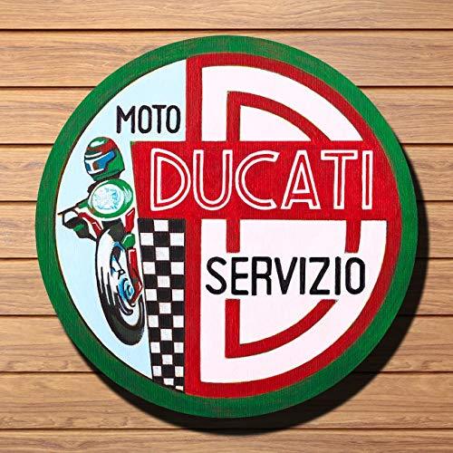 Vintage Ducati Service Sign