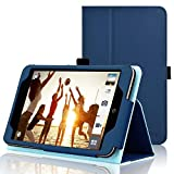 ACdream Case Fits ASUS MeMO Pad 7 LTE [with Auto Wake Sleep Feature] - Premium PU Leather Smart Cover Case, Dark Blue