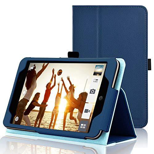 acdream Asus Memo Pad 7LTE Hülle Schutzhülle, Premium PU-Leder Smart Cover Fall für AT und T Asus Memo Pad 7LTE GoPhone Prepaid Tablet me375cl dunkelblau ASUS MeMO Pad 7 LTE ME375CL (2015)