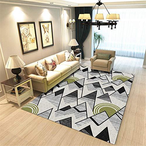 DJHWWD tapijten stof absorberend kindervloerkleed duurzaam woonkamertapijt met zwarte grijze karikatuurbloemmotief, antislip, zachte woonkamertapijt.
