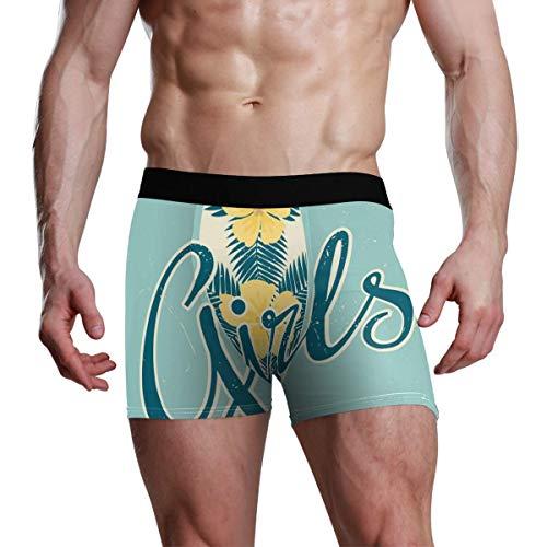 GOSMAO Herren Boxershort Boxer Sommer-Stil-Muster Männer Unterhosen Unterwäsche,6,XL