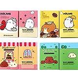 SWEETWU - Bloc de notas con 6 dibujos animados para niños, diseño de animales...