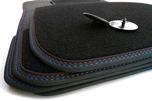 Fußmatten E81 E82 M1 Edition Doppelnaht Velour Automatten Premium 4-teilig
