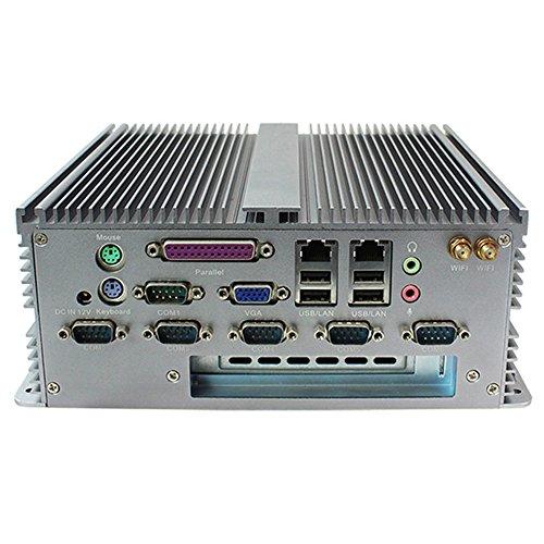 Fanless Industrial PC Rugged Computer IPC with Intel Atom D2550 6 COM Dual LAN 1 PCI Barebone Partaker I20
