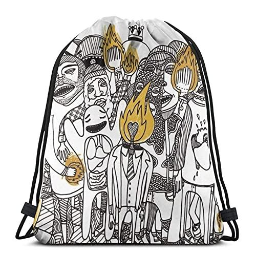 Gold Sparkle Patterns Borse con coulisse Sport Gym Backks Storage Goodie Cinch Bag