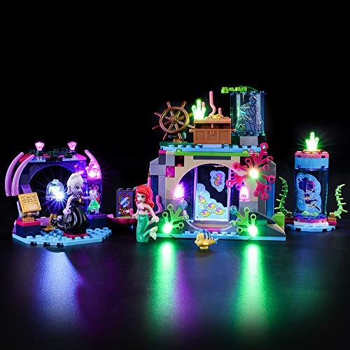 BRIKSMAX Kit de Iluminación Led para Lego Princesas Disney Ariel y el Hechizo mágico,Compatible con Ladrillos de Construcción Lego Modelo 41145, Juego de Legos no Incluido