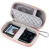 COMECASE - Funda para MP3 PIELER, Victure/Soulcker/SVMUU/Ipod Shuffle & Nano con Bluetooth y otros reproductores de música, compatible con auriculares, cable USB, tarjeta de memoria, color oro rosa