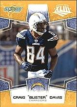 2008 Score Super Bowl XLIII Gold #265 Craig Buster Davis - Football Card