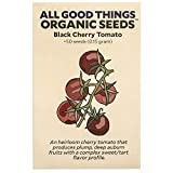 Black Cherry Tomato Seeds (~50): Certified Organic, Non-GMO, Heirloom, Open Pollinated Seeds from The United States