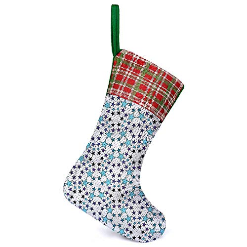 Adorise Calcetines 3D de regalo con diseño de estrellas geométricas para la familia y fiestas navideñas