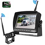 Truck Bus Digital Wireless Backup Camera Monitor System Kit, 7 inch DVR Monitor+HD