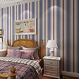 baporee Papel Pintado para habitación Infantil Pentagrama Estilo inglés Papel Pintado no Tejido 10m * 53cm D