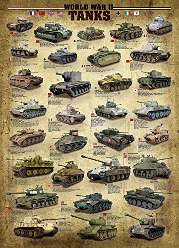 HJHJHJ Tanques de la Segunda Guerra Mundial Puzzle de 500 Piezas