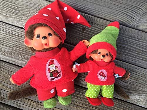 Puppenkleidung handmade passend für MONCHICHI Gr. 20 cm / oder Gr. 26-28 cm Bekleidung Pulli + Hose + Mütze + Schuhe