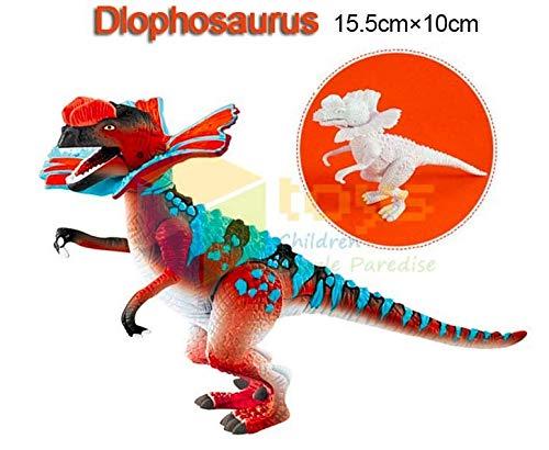 DIY Dinosaurio para ensamblar y Pintar Juguete para Niños Dinosaurio Figuras para Pintar Manualidades Pintar Creativo para Niños (Dilophosaurus)