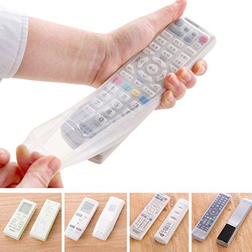 Funda protectora para mando a distancia, UxradG de silicona transparente antipolvo para mando a distancia, soporte para mando a distancia (16 x 5,5 x 2,5 cm)