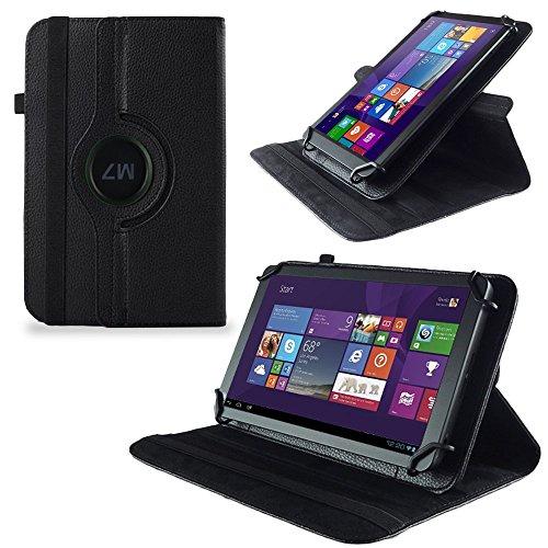 UC-Express Huawei MediaPad X2 Tasche Hülle Cover Case Tablet Schutz Schutzhülle Drehbar Bag, Farben:Schwarz