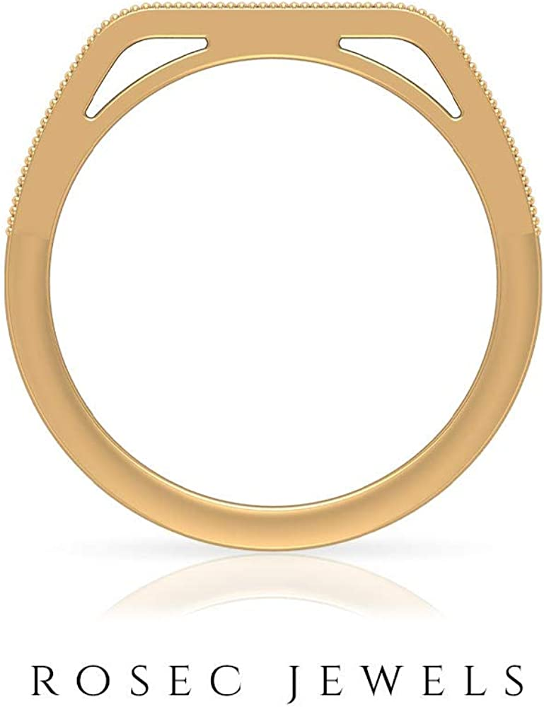 Designer Eternity Ring, Gold Half Eternity Band, 1.20 MM Round Shaped HI-SI Diamond, Dainty Ring, Stackable Jewelry Collection, Birthday Gift For Her, 14K Gold