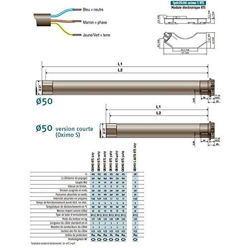 SOMFY RTS 1049434 OXIMO 40/17 (DE) Motor, 230 V, 50Hz, für Rollläden
