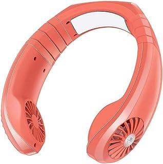 2020 Mano De La Fan Personal Free,Cuello Del Ventilador Batería Recargable Portátil Mini USB,Con Doble Cabeza De Viento 3 Velocidades Para Office Viajar Acampar Al Aire Libre,Rojo