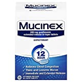 Chest Congestion, Mucinex Expectorant 12 Hour Extended Release Tablets, 100ct, 600 mg Guaifenesin with Extended Relief of Chest Congestion Caused by Excess Mucus. Thins and Loosens Mucus (Pack of 3)