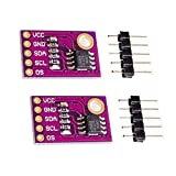 HiLetgo 2pcs LM75 LM75A Temperature Sensor High Speed I2C Interface High Precision Development Board