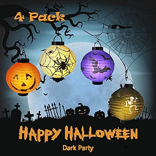 Halloween Decorations,Halloween Decorations Paper Lanterns,LED Light with...