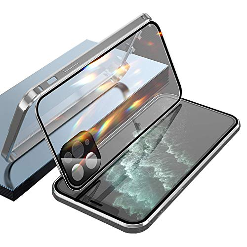 Double-Sided Buckle iPhone Case, for iPhone 11/12 PRO MAX (Silber, Für IP XR)
