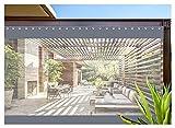 AWSAD Cortinas de Pérgola, Lona Transparente de PVC, Porche de Pabellón Interior y Exterior, con Perforaciones, Personalización de Soporte (Color : Gray, Size : 2.5x3.5m)
